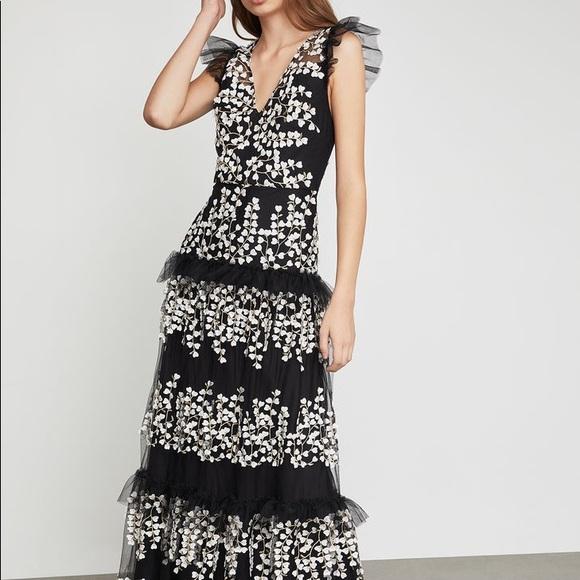 BCBG Dresses & Skirts - BCBG Floral Vine Appliqué Gown
